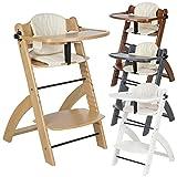 BOMI® Kinderhochstuhl inkl. Tisch, 5-Punkt-Gurt, Sitzverkleinerer und Sicherheitsbügel -...