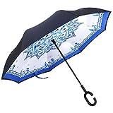Umgekehrter Regenschirm, Opret Wende-Regenschirm Winddichter Reiseschirm Umgekehrter Stockschirm mit...