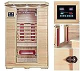 Home Deluxe Redsun M Infrarotsauna | inkl. Keramikstrahler, vielen Extras und komplettem Zubehör |...