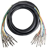 Pronomic Stage MJJ8-6 Multicore Kabel 8 x 6,3 mm Klinke mono auf 8 x 6,3 mm Klinke mono 6 m