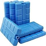 COM-FOUR® 6er Pack Kühlakkus, je 200 ml, blau - für die Kühltasche (06 Stück)