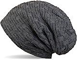 styleBREAKER warme Feinstrick Beanie Mütze mit Flecht Muster und sehr weichem Fleece Innenfutter,...