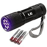 LE Ultraviolett LED UV Taschenlampe mit 9 LEDs 395nm, UV-Strahler, Handlampe, Prüfgerät,...