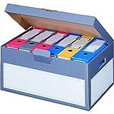 karton-billiger 5 Stück Archivschachteln Klappdeckel 'Premium' mit Boden und Deckel zur Ablage von...