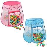 KIDUKU® Kinderspielzelt + 100 Bälle + Tasche Spielhaus Bällebad Schloss für drinnen und draußen...