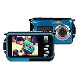 Digital-Camcorder, Stoga CGT001 Doppelbildschirme Wasserdichtes Digital-Videokamera 2.7-Zoll-Front...