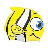 Spokey Rybka Kinder Badekappe, Bademütze, Badehaube, Cap, spokey:Fisch / 82276 gelb