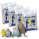 10 kg Vogelsand Naturweiss mit Kalk u. Anis (4 x 2,5 kg ) hygienisch + keimfrei in bester Qualität