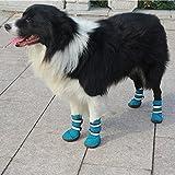 Semoss 4 Set Hunde Zubehör Haustier Schuhe Hunde Schuhe Pfotenschutz Boots Hunde Stiefel...