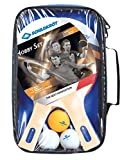 Donic-Schildkröt Tischtennis Set Hobby für 2 Spieler 2 Schläger 3 Bälle in Tasche, 788602