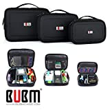 3 x BUBM Mehrfachfunktion Zubehör Speicher tragen Beutel-Kasten USB-Kabel Speicherkarte Netzkabel...
