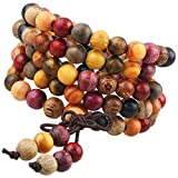 Shanxing 108 Perlen Holz Yoga Armband Buddha Buddhistische Tibetische Gebetskette Mala Kette...