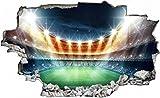 Fussball Stadion Zuschauer Ball Wandtattoo Wandsticker Wandaufkleber C0413 Größe 100 cm x 150 cm