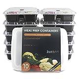 [10er Pack] DAS BESTE 3-Fach Meal Prep Container Set,Gratis (E-Book) 21Hähnchenrezepte für Meal...