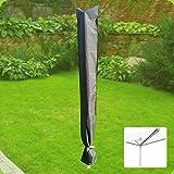 Komfort Schutzhülle für Wäschespinne 190x29cm Schutzhaube Schonbezug anthrazit