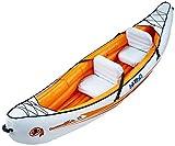 Blueborn Indika 2 Touren-Kajak 325x80 cm Kanu mit Nylonhülle für 2 Personen Schlauchboot Boot...