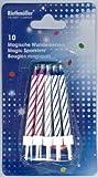 1 Zauberkerzen-Set bestehend aus: 10 Stück Magische Wunderkerzen und 10 Halter, Geburtstags-Kerzen,...