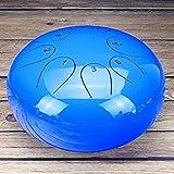 QueenHome Steel Tongue Drum 10 Zoll mit gepolsterter Reisetasche und Gummihammer, Andpan Drum...