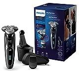 Philips Elektrischer Nass-und Trockenrasierer Series 9000 mit V-Track-Pro-Klingen S9531/26,...