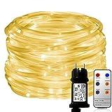 MaLivent 10M 136er LED Lichtschlauch als Weihnachtsdeko– Lichterschlauch warmweiß –Lichterkette...