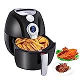 Heißluftfritteuse, Blusmart Power frittieren ohne ÖL mit Temperatur- und Zeitkontrolle auf LED...