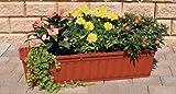 Blumenkasten 80 cm terracotta mit Wasserspeicher MADE IN GERMANY