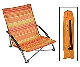 Strandstuhl LIDO klappbar, Stahlgestell, Bezug orange/gelb gestreift