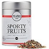 TEATOX Sporty Fruits, Bio Früchtetee mit Apfel und Hibiskus (Dose)