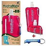 Faltbar Wasser Flasche. BPA-frei. 1.219/750ml. hydramate leicht, weich, flexibler, umweltfreundlich,...
