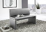 SAM® Esszimmer Sitzbank Family Hilton, in hellgrau, Sitzbank mit Rückenlehne aus Samolux®-Bezug,...