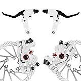 AFTERPARTZ NV-5 Fahrrad Scheibenbremse Umbausatz G3 160mm Scheiben V&H weiße Bremssättel mit...