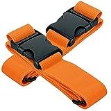 2er-Pack BORA Gepäckgurt 5x200cm - hochwertiges robustes Kofferband, langer Koffergurt mit Schnalle...