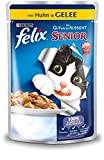 FELIX Katzennassfutter So gut wie es aussieht in Gelee Senior mit Huhn 20er Pack (20 x 100g)...