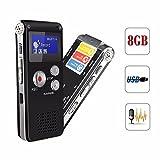ELEGIANT 8GB digitale LCD-Bildschirm Stereo Diktiergerät Aufnahmegerät Sprachaufnahme voice...