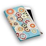 Elegante Reissverschluss Handytasche Softcase 'Flower' geeignet für 'Apple iPhone 7 Plus' Handy...