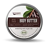 WOODENSPOON 100% natürlich Körperbutter mit Kakaobutter 'Royal Touch' 100 ml - Zertifikat SOIL...
