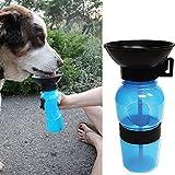 Tuopuda Hund Wasserflasche Unterwegs Reise Trinkflasche für Hunde Haustier Trinkflasche Pet Dog...