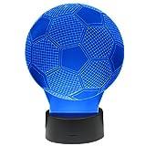 Trixes Multicolor LED 3D-Lampe im Fussball Design als Nachtlicht Touch Sensitive