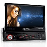 XOMAX XM-VRSU727BT Autoradio / Moniceiver + Bildschirm ausfahrbar + 18 cm / 7' High Definition HD...