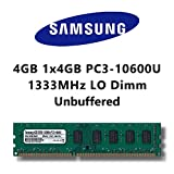 Samsung 4GB (1x 4GB) DDR3 1333MHz (PC3 10600U) LO Dimm Computer PC Desktop Arbeitsspeicher RAM...