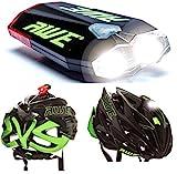 AWE® AWEDual 360°™ USB Wiederaufladbare Fahrrad Twin Helm Licht vorne / hinten 40 Lumen