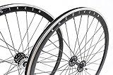KHE Fixie Laufradsatz 700c Industriegelagert 40mm Hoch schwarz mit Freilaufritzel K4