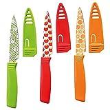 Küchenmesser Obstmesser Gemüsemesser Allzweckmesser Schälmesser mit Fruchtmotiven, 3 Stück,...
