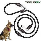 Premium Hundeleine Doppelleine 2m von TOPHGDIY für große Hunde 4 fach verstellbar Führleine...
