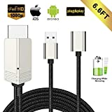 Kompatibel mit iPhone iPad Android Smartphone zu HDMI Kabel, FAERSI 1080P HD MHL HDMI Adapter für...