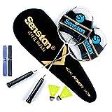 Senston Graphit Badminton Set Carbon Badmintonschläger Badminton Schläger Set mit Schlägertasche...