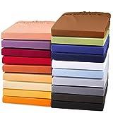 Doppelpack Exclusives Jersey Stretch Qualitäts Spannbettlaken 90x200 - 100x220 für...
