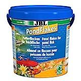 JBL Futterflocken PondFlakes 40199, Hauptfutter für alle Teichfische, 1er Pack (1 x 10,5 l)
