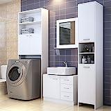 Badmöbel Set Badezimmermöbel Waschbeckenunterschrank Unterschrank Badezimmerhochschrank...