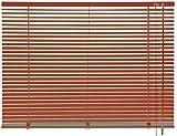 mydeco® 100 x 240 cm Aluminium Jalousie Terracotta; inkl. Bedienstab, Deckenträger +...